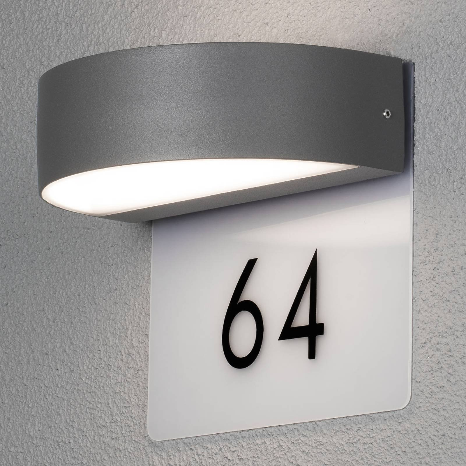 Monza moderne LED-husnummerlampe inkl. sifre
