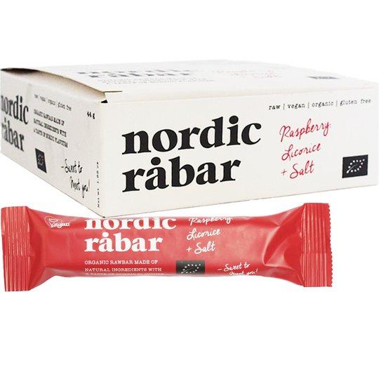 "Hel Låda Råbars ""Raspberry, Licorice & Salt"" 15 x 44g - 51% rabatt"