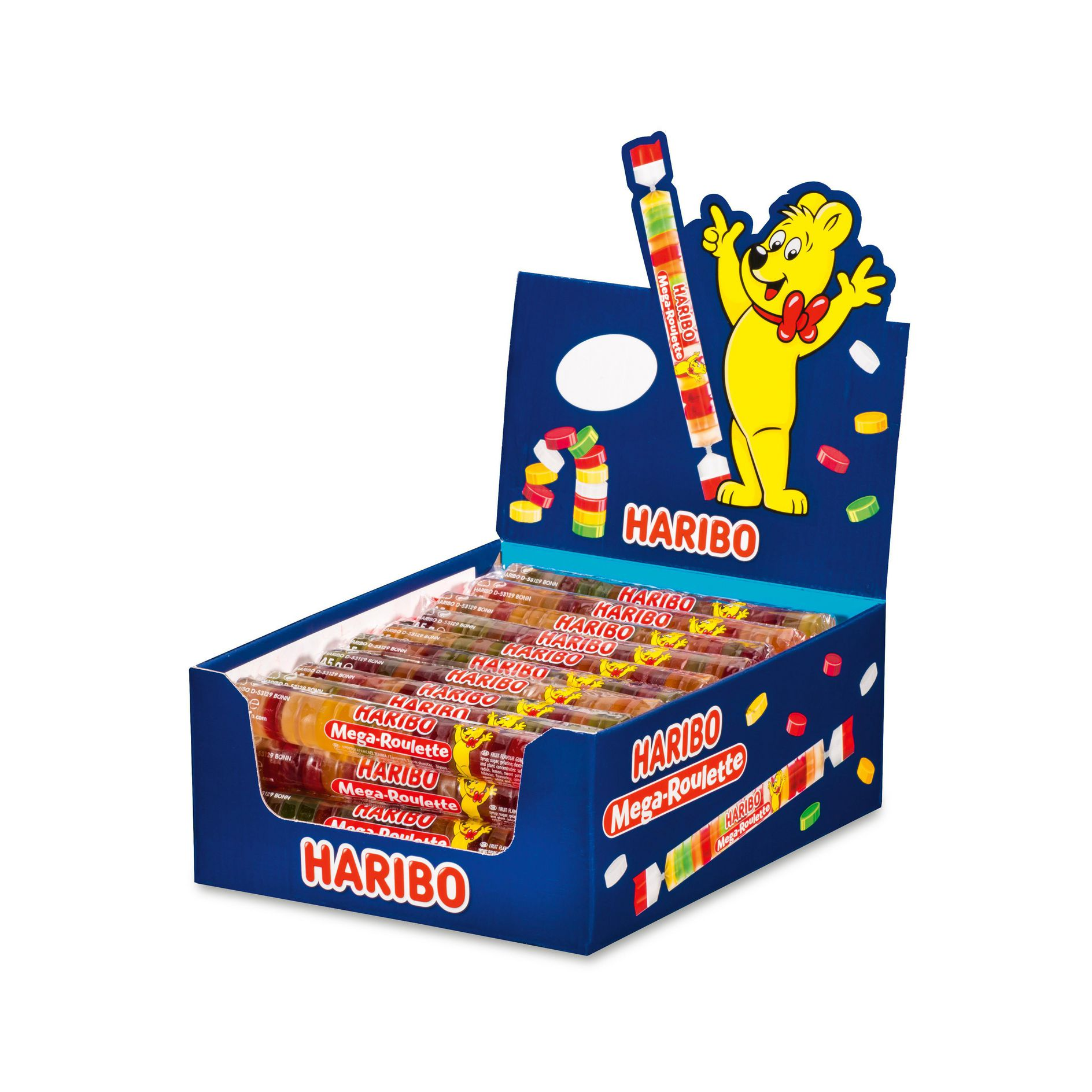 Haribo Mega Roulette Fruit 45g x 40st