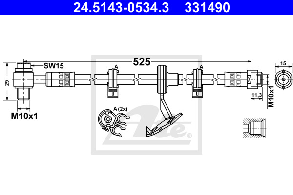 Jarruletku ATE 24.5143-0534.3