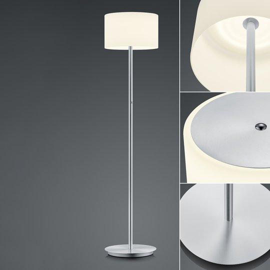 BANKAMP Grazia LED-gulvlampe ZigBee-komp. nikkel