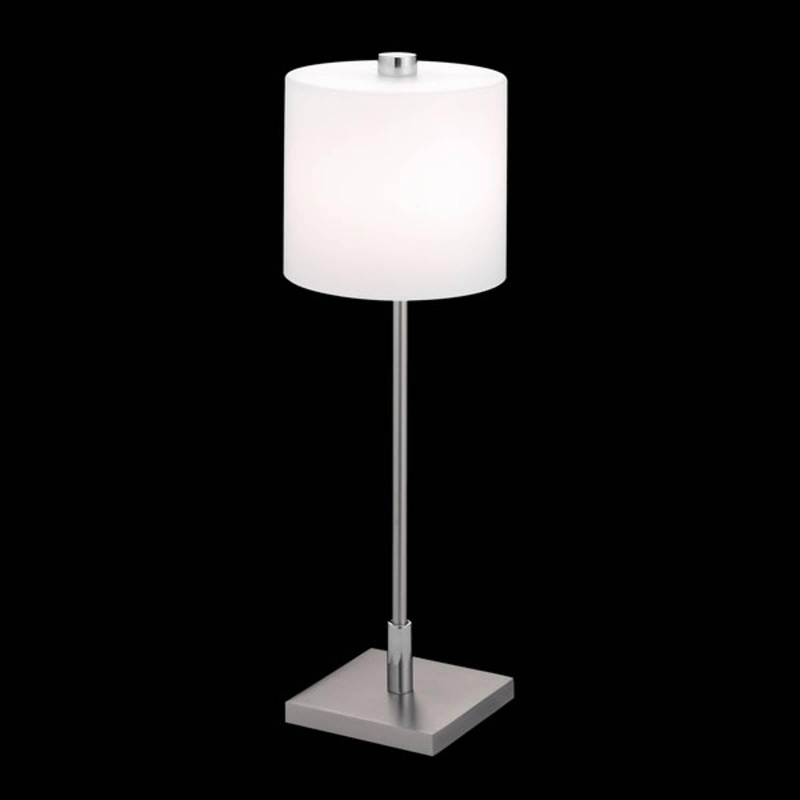 Knapstein-pöytälamppu Mercy, matta nikkeli, kromi