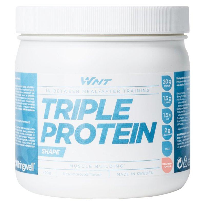 "Proteiinijauhe ""Triple Protein"" Mansikka 400g - 27% alennus"