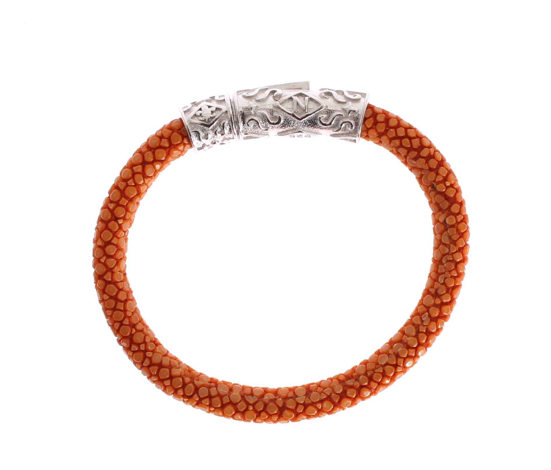 Nialaya Women's Stingray 925 Bracelet Orange NIA20268 - XS