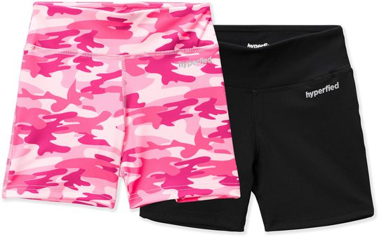 Hyperfied Move Tights 2-pack, Black/Camo Pink 170