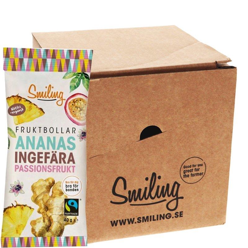 Fruktbollar Ananas, Ingefära & Passion 10-pack - 42% rabatt