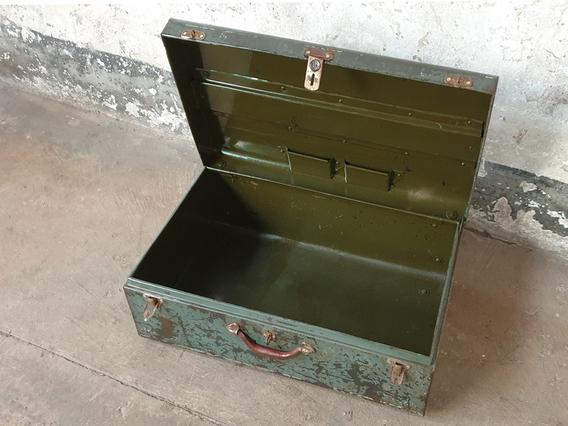 Vintage Metal Suitcase Green