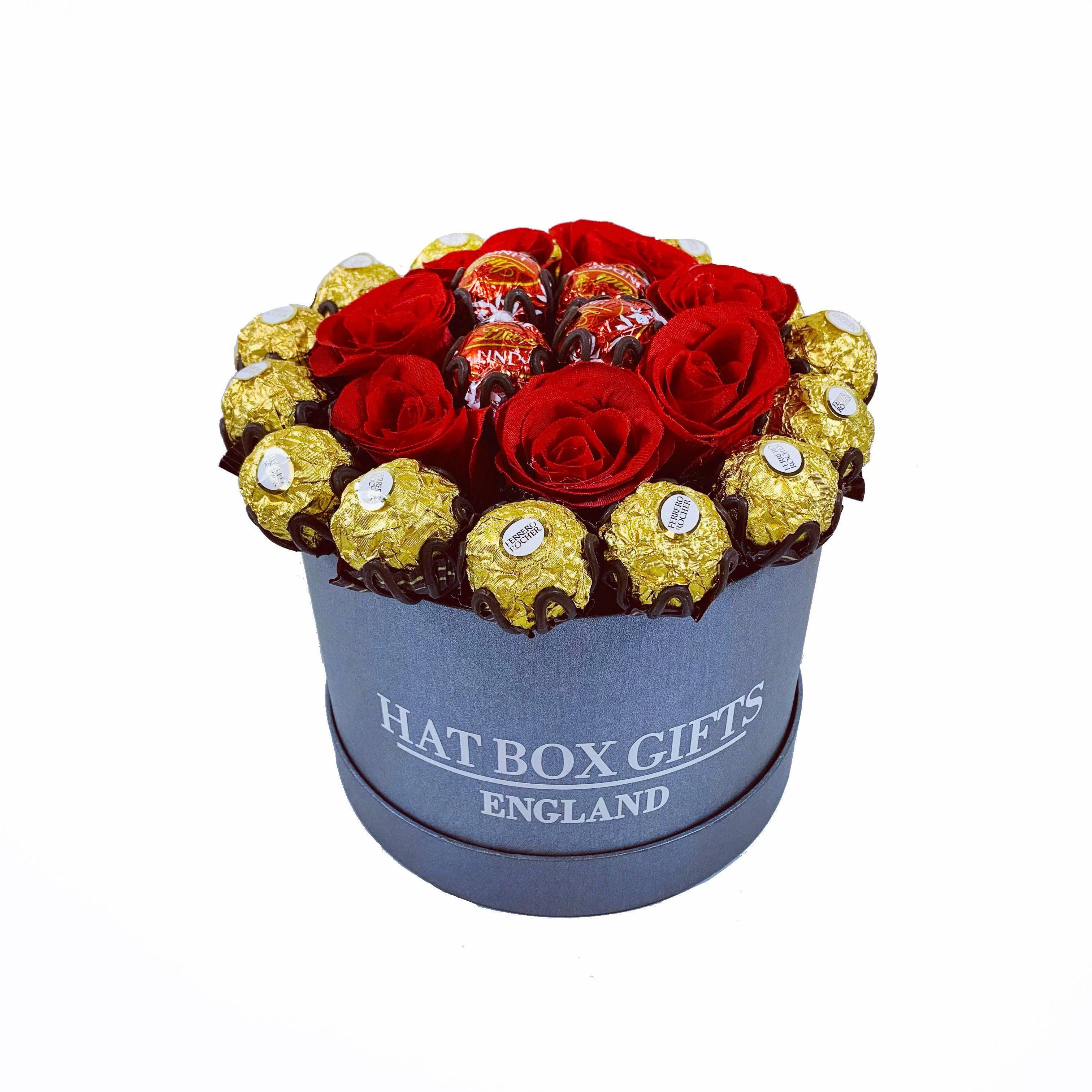 Hat Box with Ferrero & Lindor Chocolates