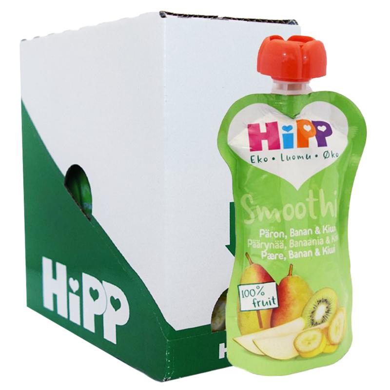 Laatikollinen smoothieita, päärynä, banaani ja kiivi, 6 x 100 g - 26% alennus