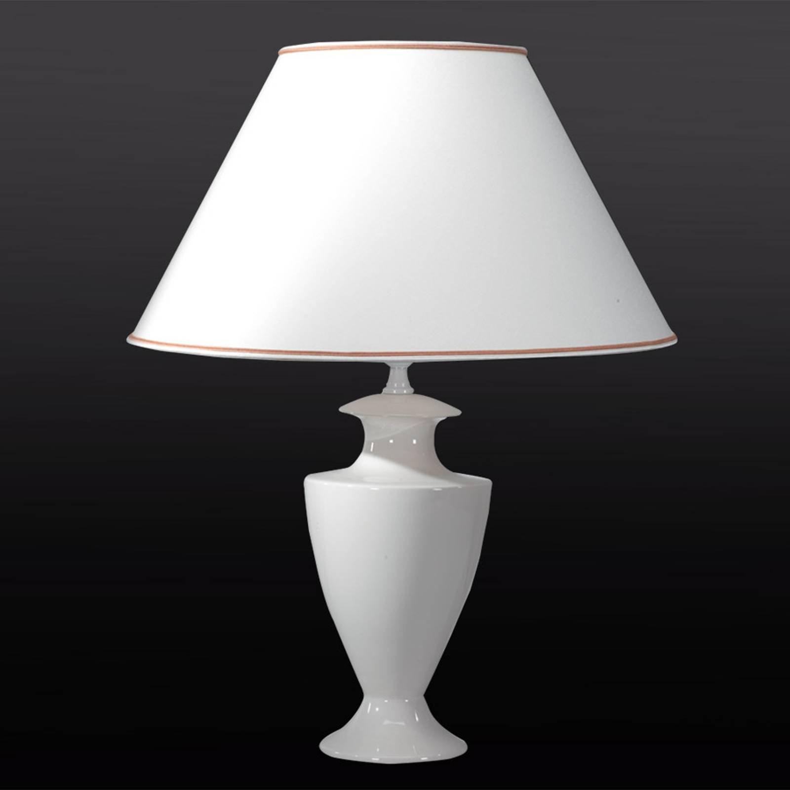 Stor bordlampe Ada Craquelet, 70 cm