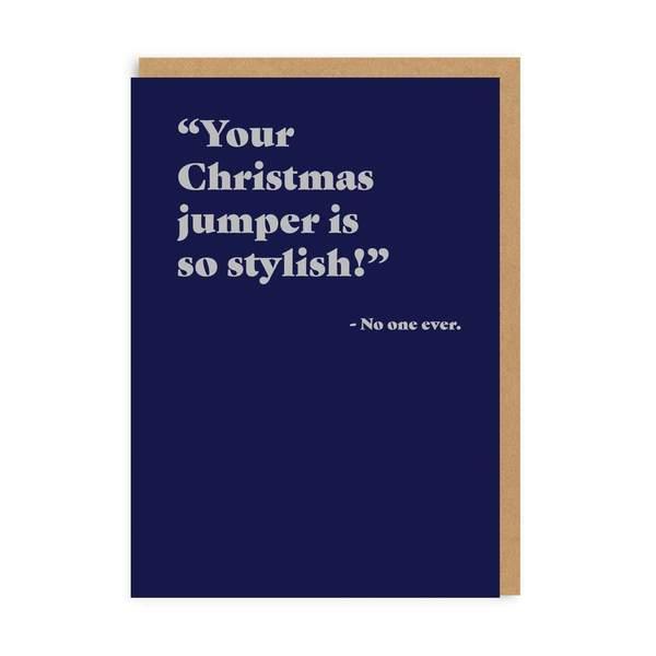 Christmas Jumper So Stylish Christmas Card
