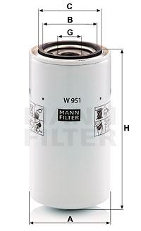 Öljynsuodatin MANN-FILTER W 951