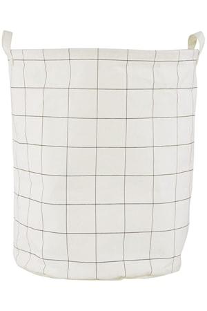 Tvättkorg Squares Ø 40x50 cm Vit/Svart