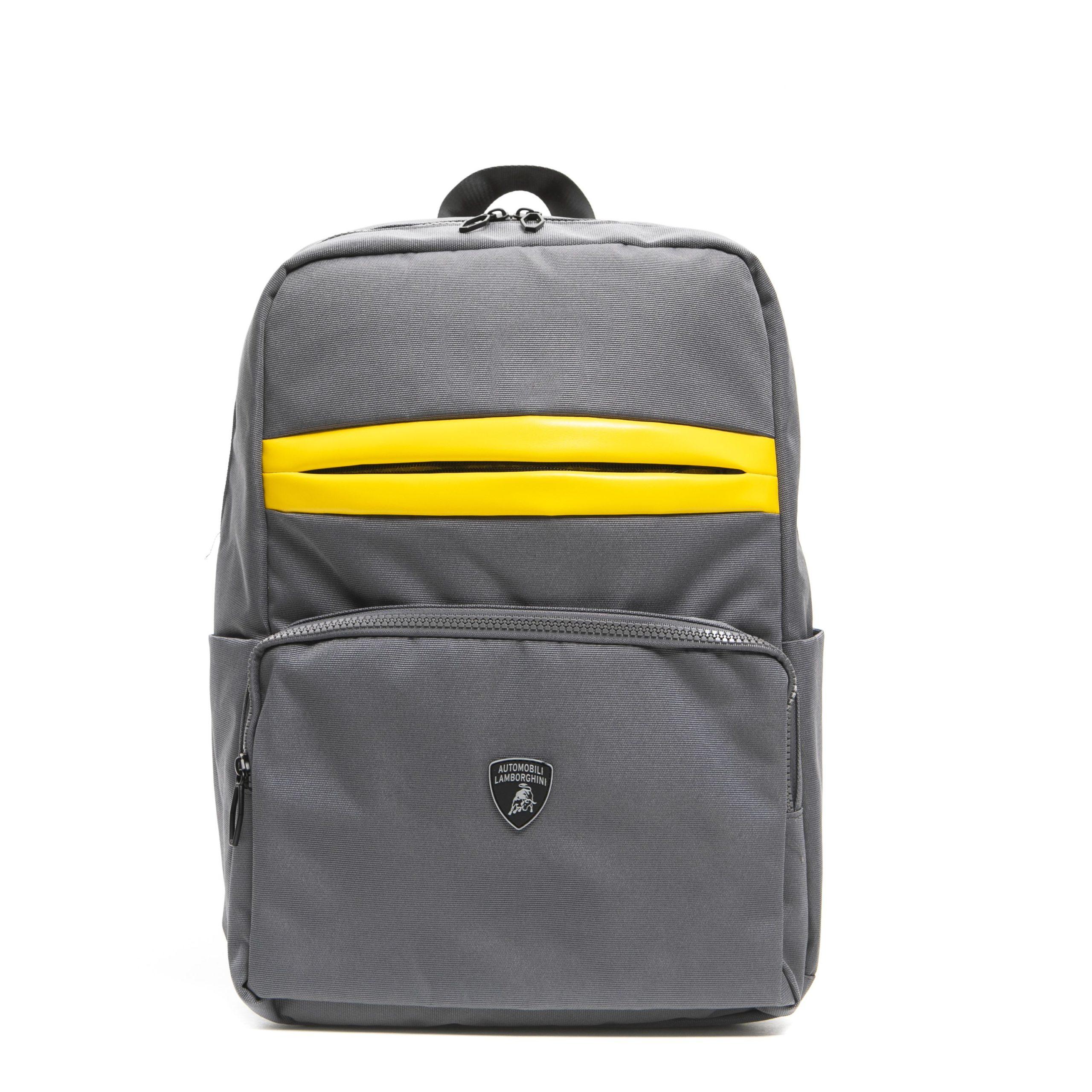 Lamborghini Men's Grigio Backpack Grey LA1263014