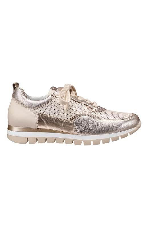 Gabor Sneakers i skinn Beige Silver