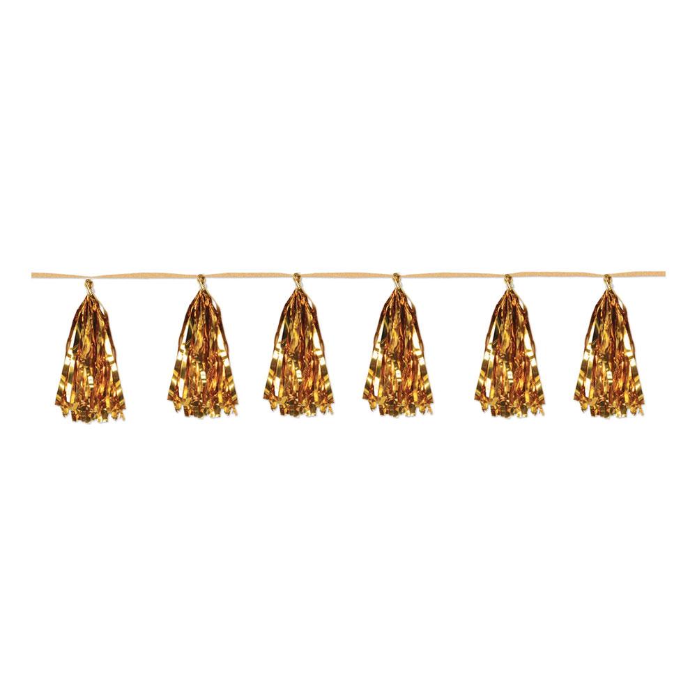 Girlang Tofsar Guld Metallic