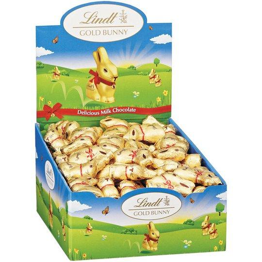 """Hel Låda Mjölkchoklad """"Gold Bunny"""" 100 x 10g - 70% rabatt"""