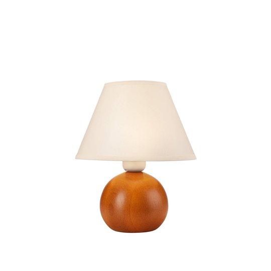 Bordlampe Gill, tre rustikk / skjerm hvit