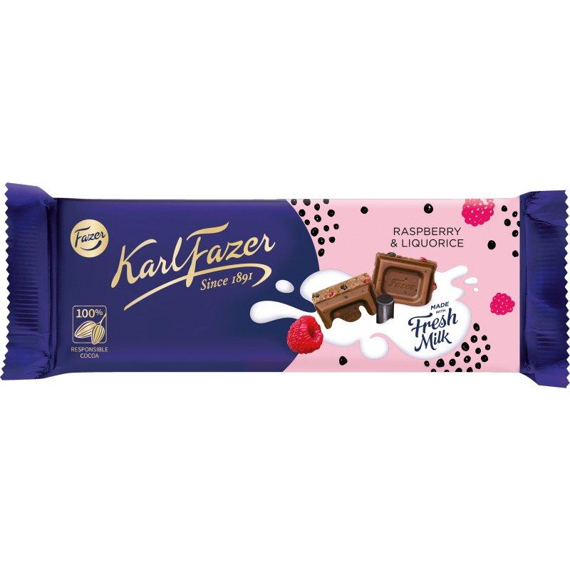 Mjölkchoklad Hallon Lakrits - 22% rabatt