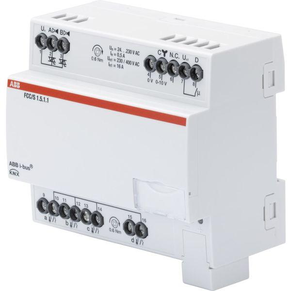 ABB 2CDG110234R0011 Puhallinkonvektorisäädin 0–10 V, 2 venttiiliä moottorin lähtöön PWM Manuaalinen kytkin: Ei