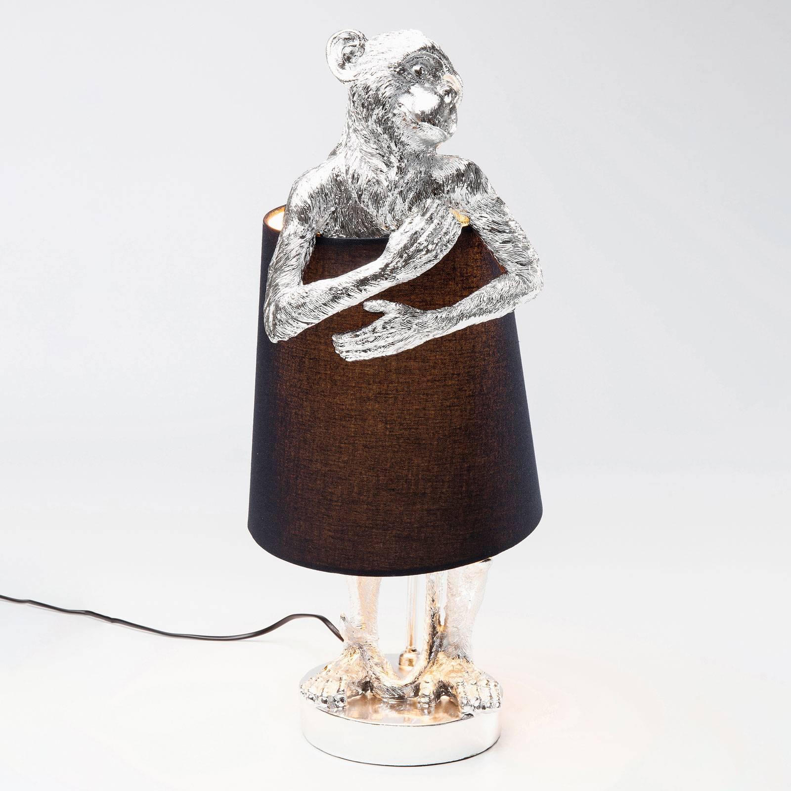 KARE Animal Monkey -pöytävalaisin hopea/musta