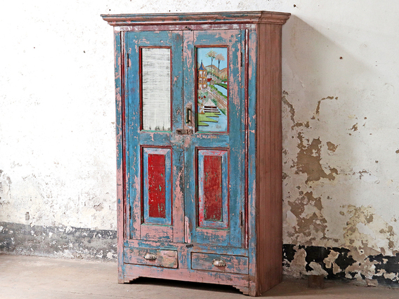 Painted Vintage Armoire Blue