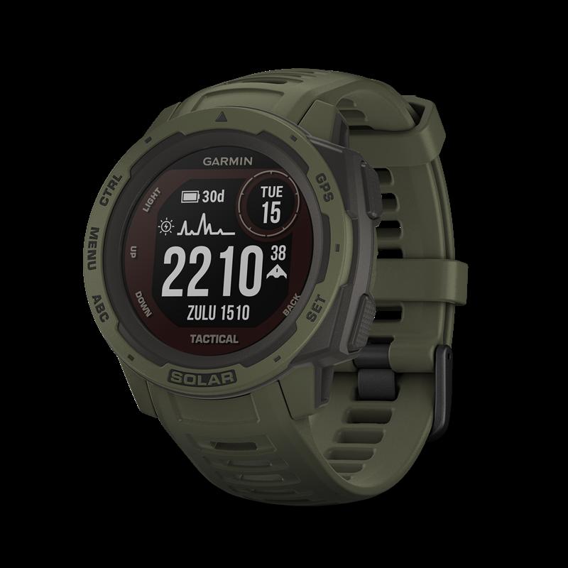 Garmin Instinct® Solar GPS-klokke, Tactical, Moss