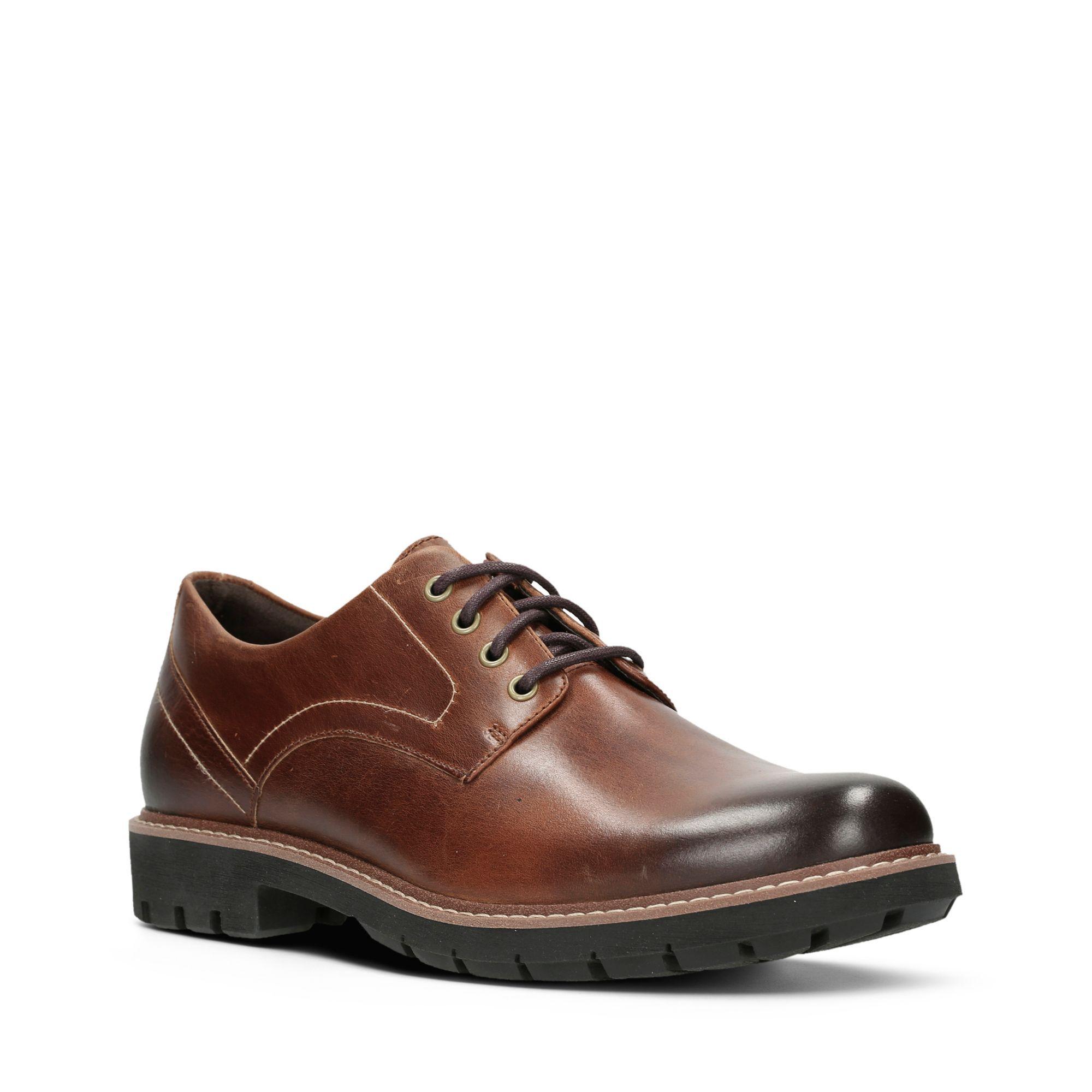 Clarks Men's Batcombe Hall Shoes Various Colours 5050409790120 - 6 UK Dark Tan