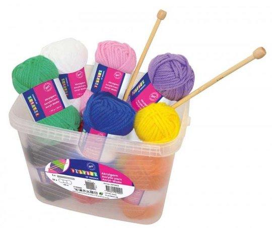 Playbox Garn, Strikkepinner og Heklenål, 12 farger