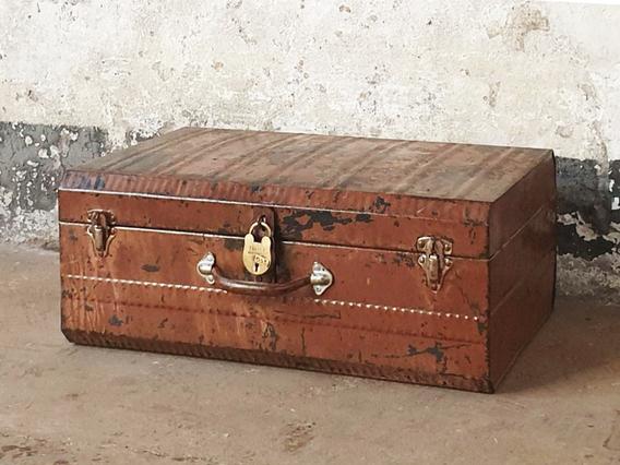 Vintage Metal Suitcase Medium