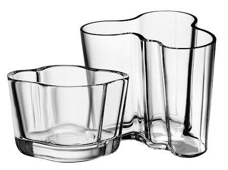 Alvar Aalto vase 95 mm + lyslykt 60 mm