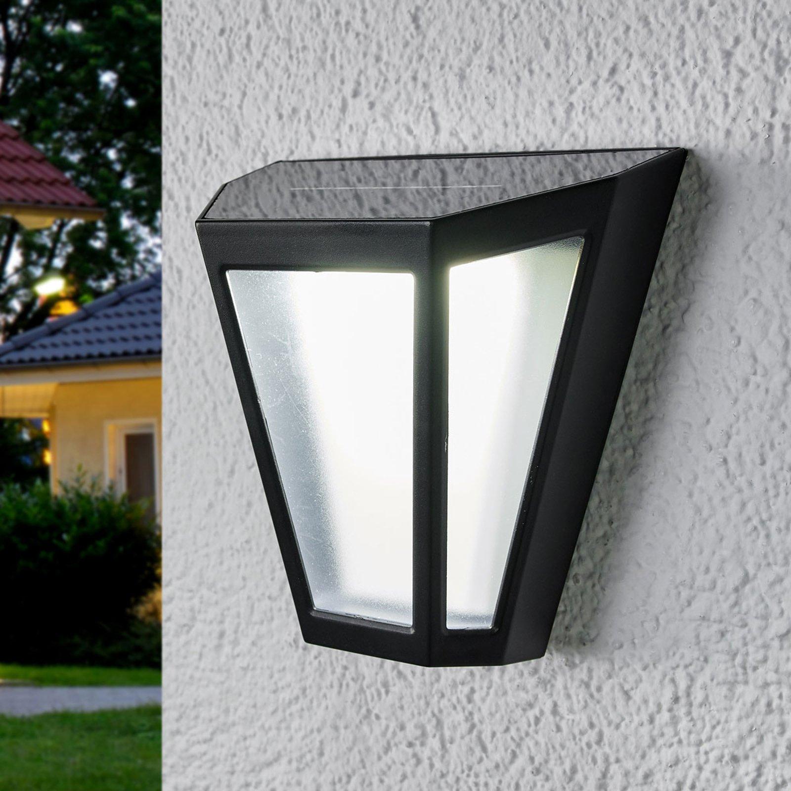 LED-solcellelampe Yago, frostet skjerm