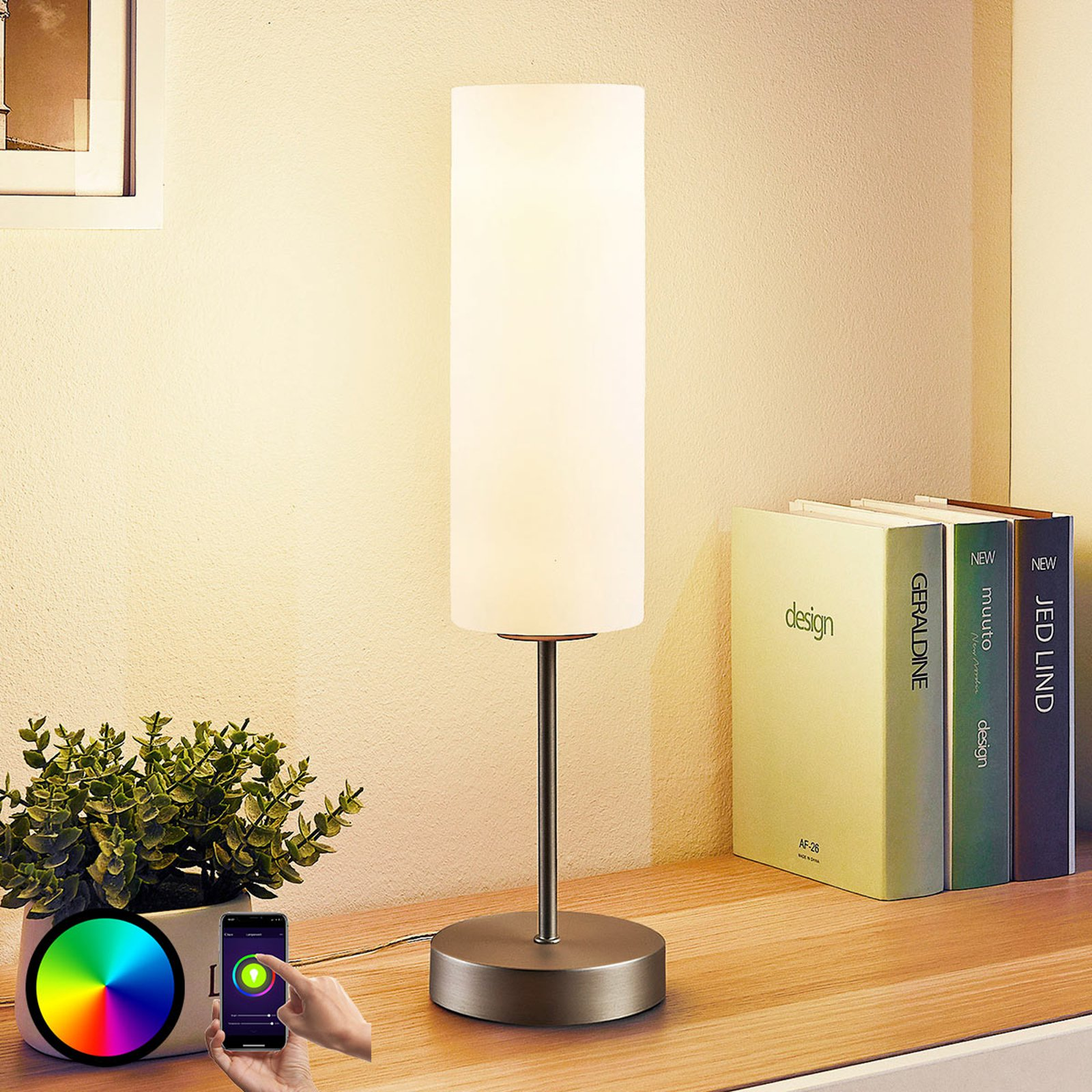 Lindy Smart LED-bordlampe Felice med RGB-modus