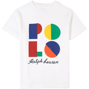 Ralph Lauren Logo T-shirt Vit 4 år
