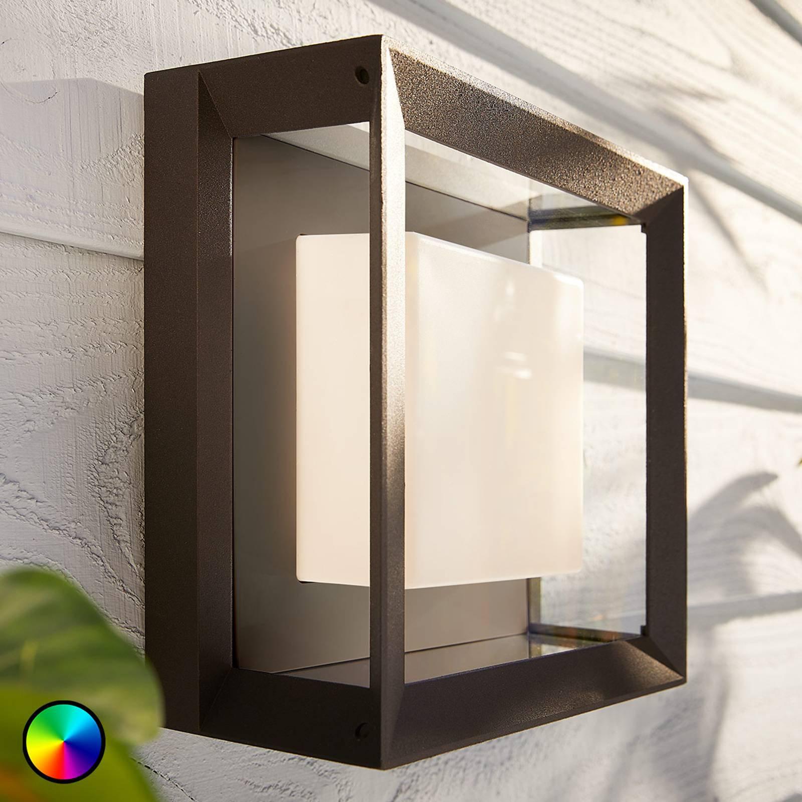 Philips Hue White+Color Econic vegglampe firkantet