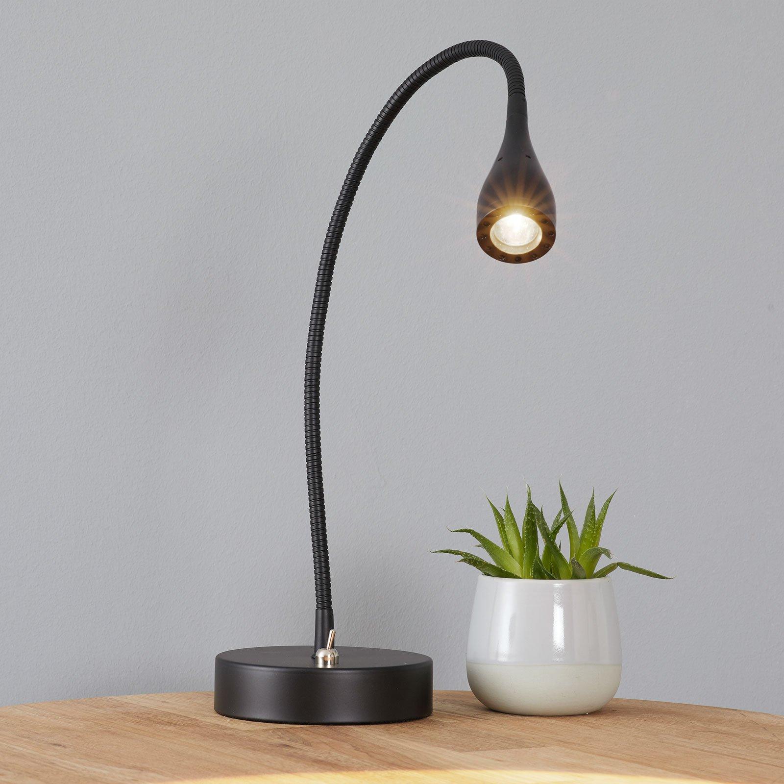 Mento - fleksibel LED-bordlampe i svart