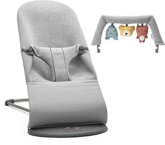 BabyBjörn Bliss Vippestol 3D Jersey inkl. Leke, Lysegrå