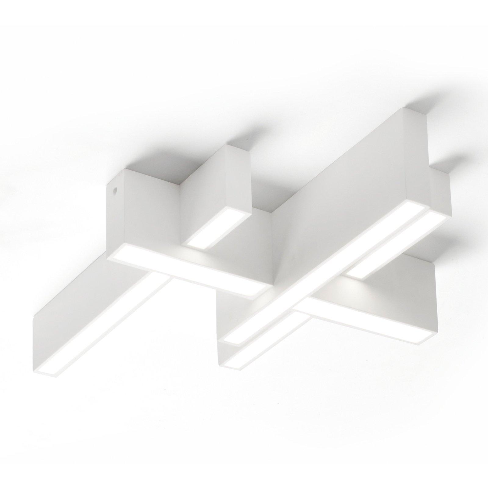 LED-taklampe Magnesia T277, 4 bjelker