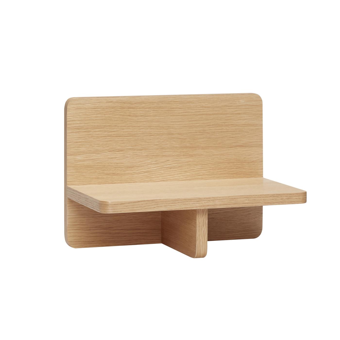 Vägghängt bord i ek, Hubsch