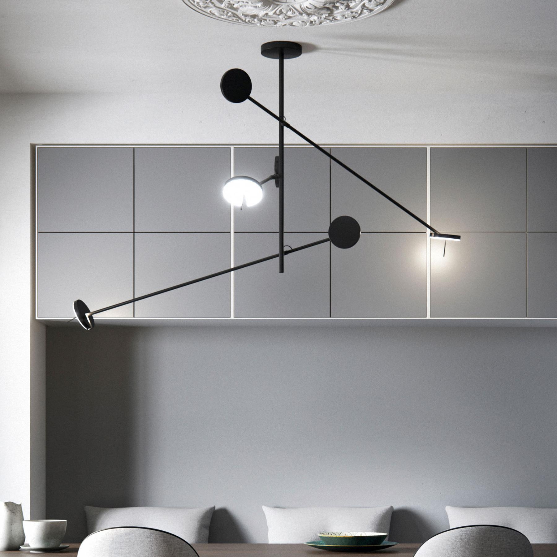 Grok Invisible -LED-riippuvalo 3-lamppuinen 2 700K