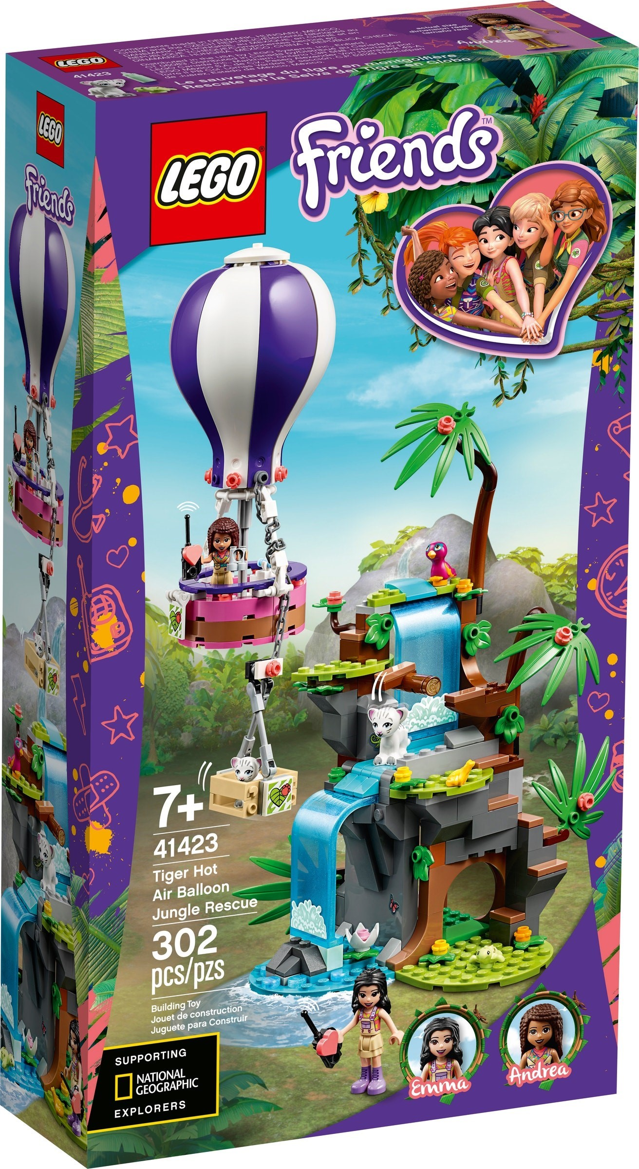 LEGO Friends - Tiger Hot Air Balloon Jungle Rescue (41423)