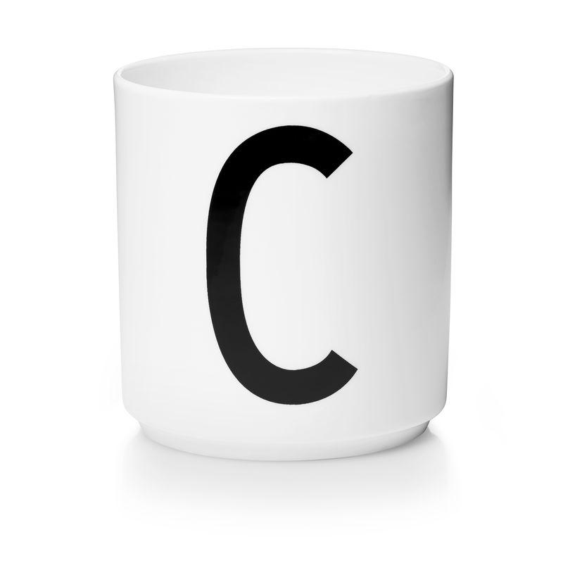 Design Letters - Personal Porcelain Cup C- White (10201000C)