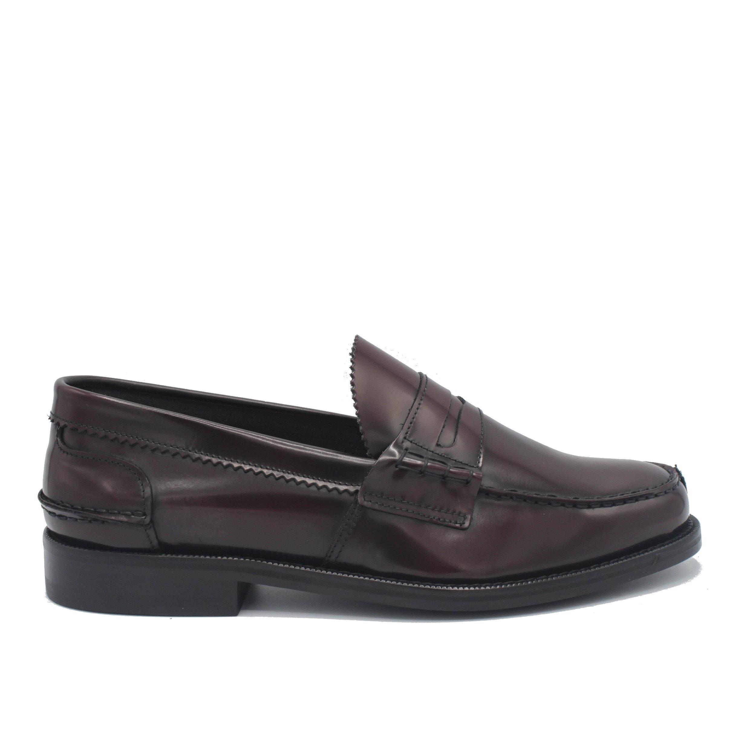 Saxone of Scotland Men's Spazzolato Leather Loafer Bordeaux 1000_Bordeaux - EU42/US9