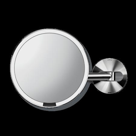 Väggmonterad Sensor Spegel Polerat Rostfritt Stål Uppladdningsbar 20 cm