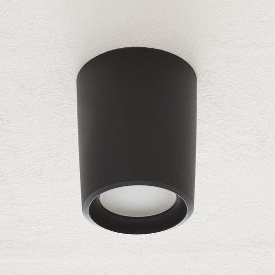 Livia-alasvalo Ø 18 cm 3 000 K musta/frosted