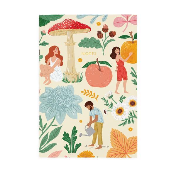 Autumn Garden A4ish Notebook