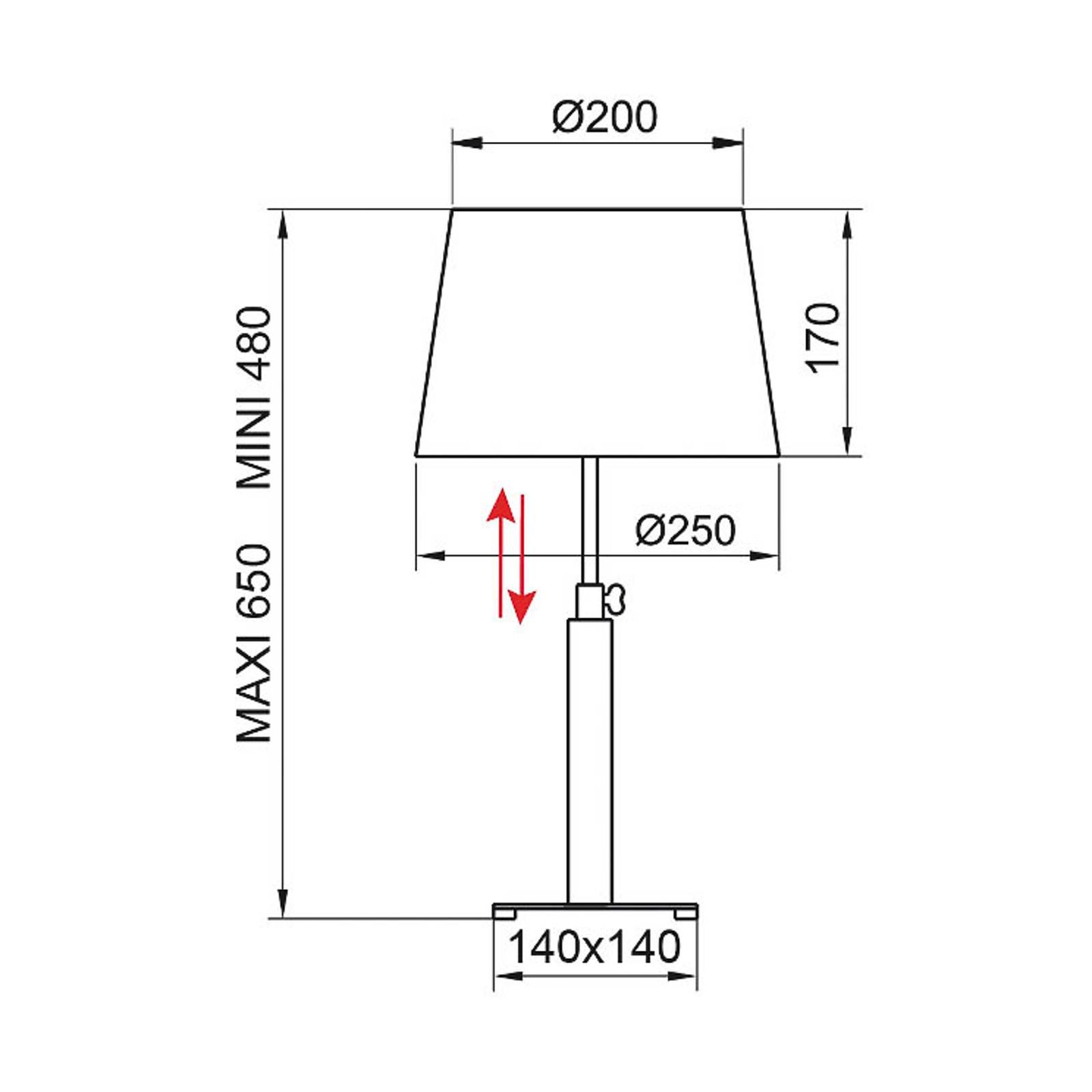 Aluminor Quatro Up -pöytälamppu, eebenpuu/kromi