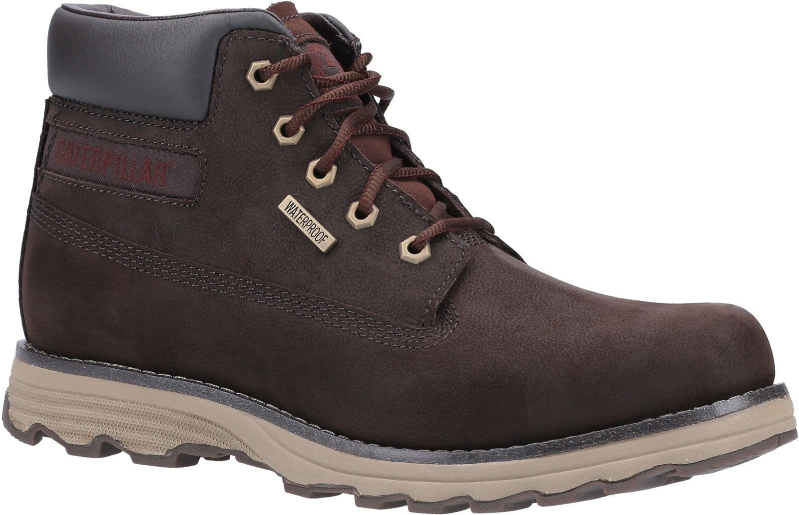 CAT Lifestyle Men's Founder WP TX Lace Up Boot Coffee Bean 31487 - Coffee Bean 7