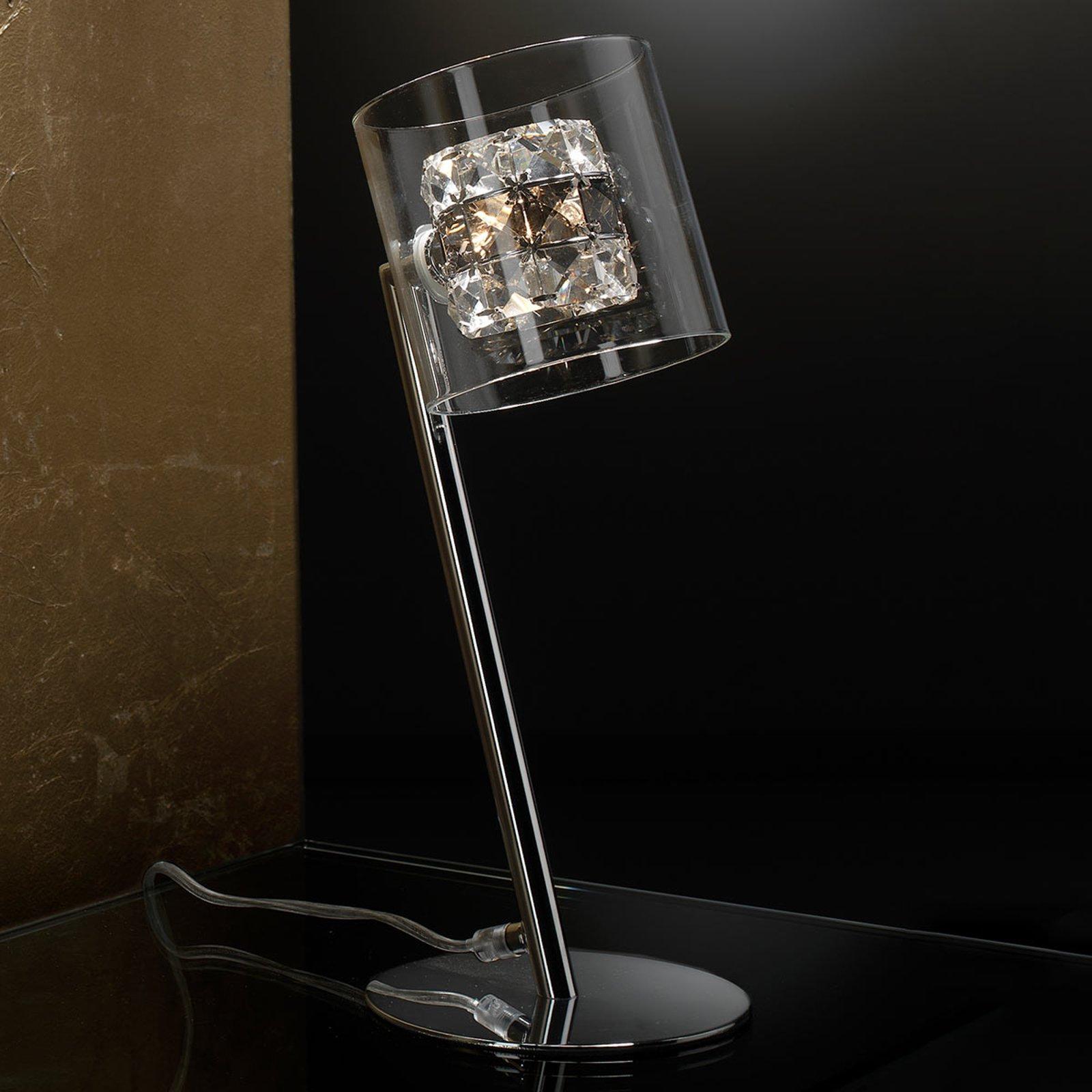 LED-bordlampe Flash med krystallringer