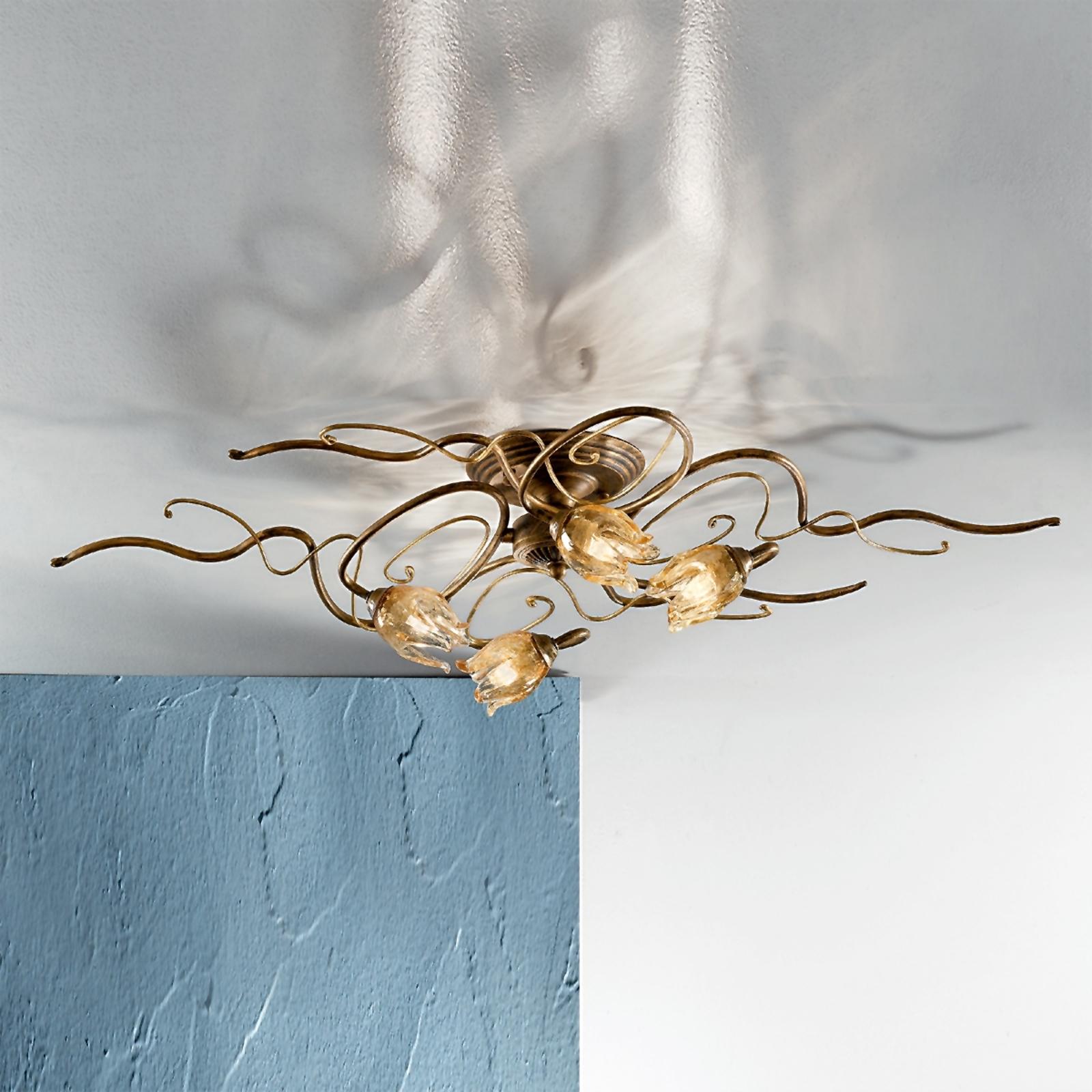 Hieno 4-lamppuinen kattovalaisin MONIQUE